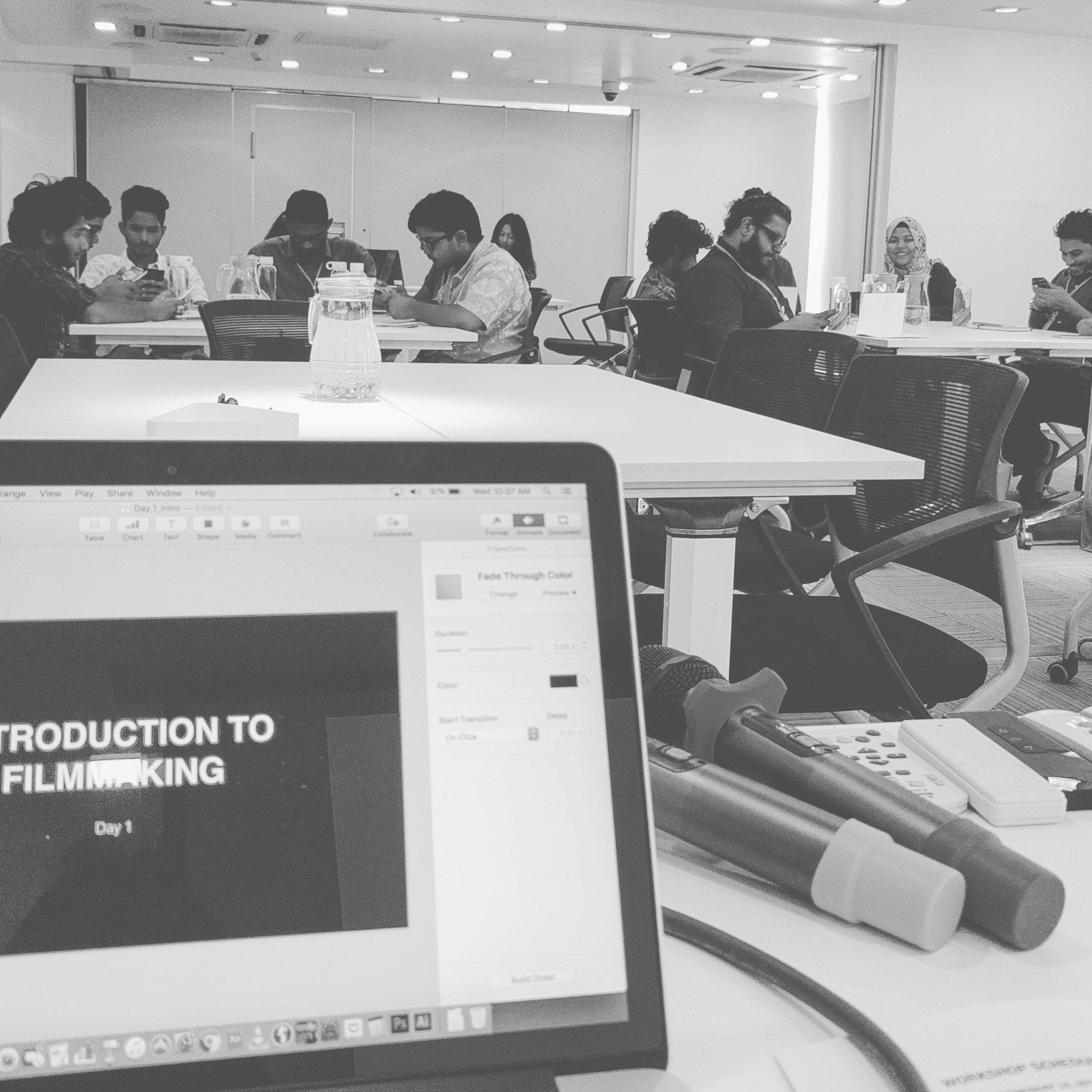 Starting film4change workshop with UNDP